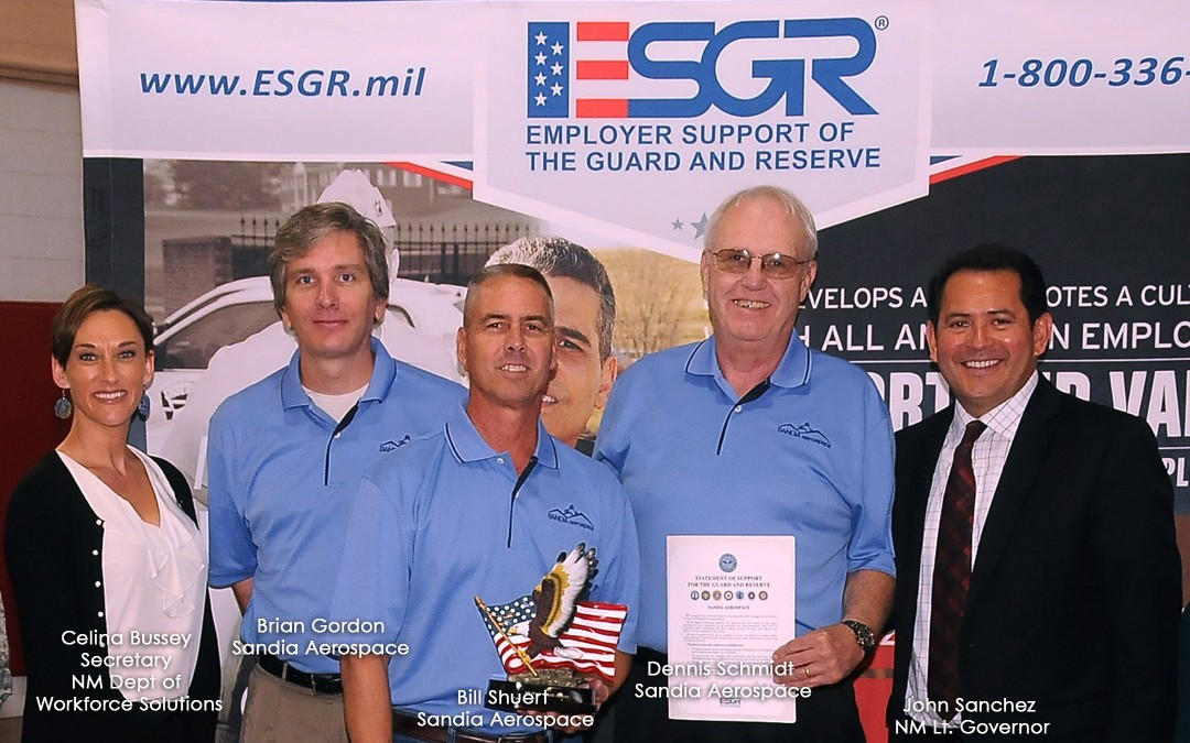 Sandia Aerospace Presented the NM Patriotic Employer Award